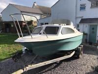Shetland 536 fishing speed boat for sale
