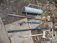 Selection of fencing tools