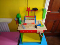 CHILD'S ALL WOODEN CHUNKY TOOL BENCH