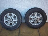 Landrover Freelander 1 Alloy Wheels and Tyres 4 Off