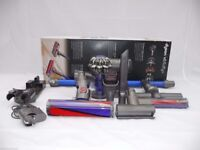 Dyson V6 Fluffy Cordless Vacuum Cleaner Blue + Accesories V 6 New condition