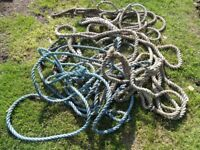 Heavy-duty Horticultural ropes various lengths £40 formerly sailing ropes 25mm /an inch diameter
