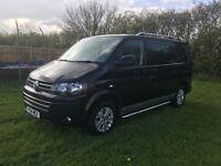 2014 vw transporter NO VAT t5 kombi van highline proper factory edition twin doors rear tailgate