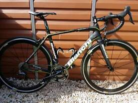 BIANCHI INFINITO CV DURA ACE 2015 with MAVIC COSMIC PRO CARBON WHEELS