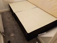 Double divan bed not used with drawers