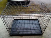Large Metal Collapsible Dog Crate