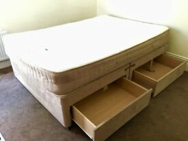 Double bed divan with drawers