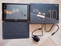 Acer Iconia 10 hd tablet A3-A40 64gb Quadcore with case