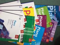 14 completely unused piano Graded books from Grade 1 to Grade 3.