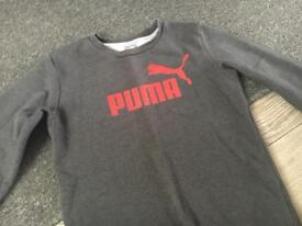 Puma jumper uk 30/33 would say 11-12 yr £4.00 used