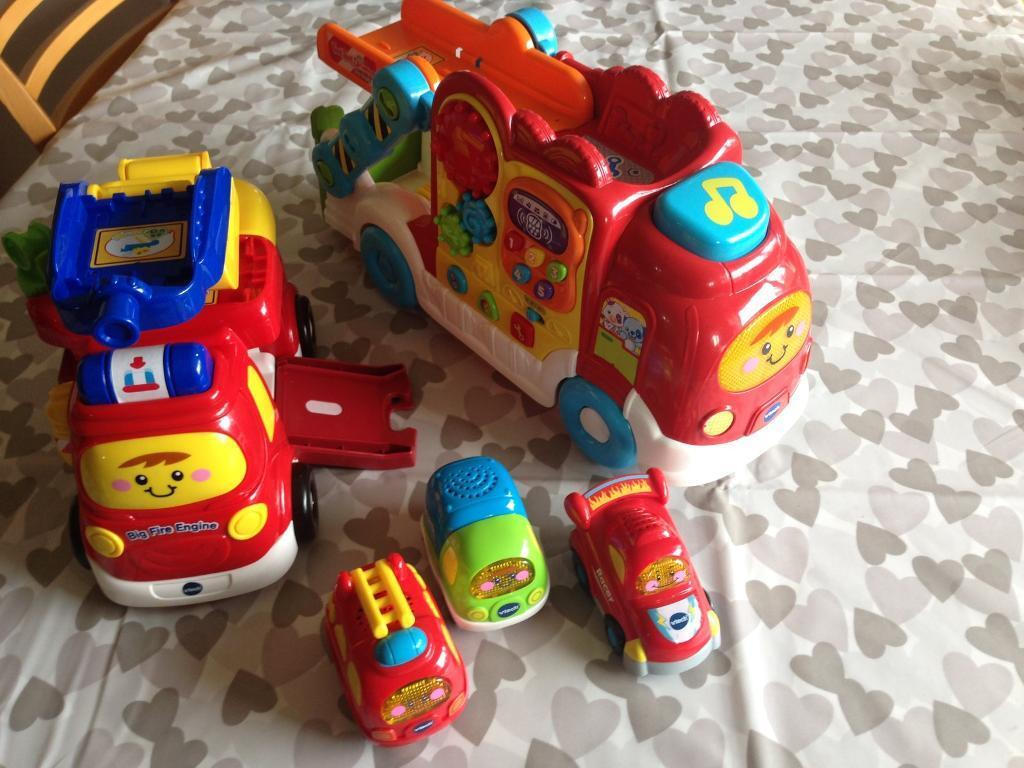 Vetch toot toot toysin Histon, CambridgeshireGumtree - V tech toot toot toys fire engine, cars, car carrier Excellent conditionCollect from histon