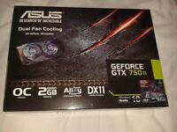 ASUS Geforce GTX 750Ti 2GB Graphics card- Never Used