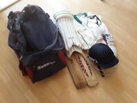 Cricket kit for boy.