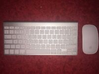 Official apple mac wireless Keyboard and wireless Magic mouse AA battery powered macbook