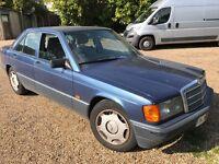 Mercedes 190E 1797cc Petrol Automatic 4 door saloon H Reg 20/03/1991 Blue