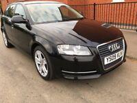 Audi A3 5 door black 1.9 diesel sport 46000 miles manual