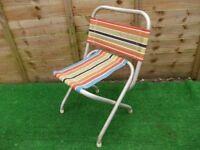 Retro folding garden camping deck chair