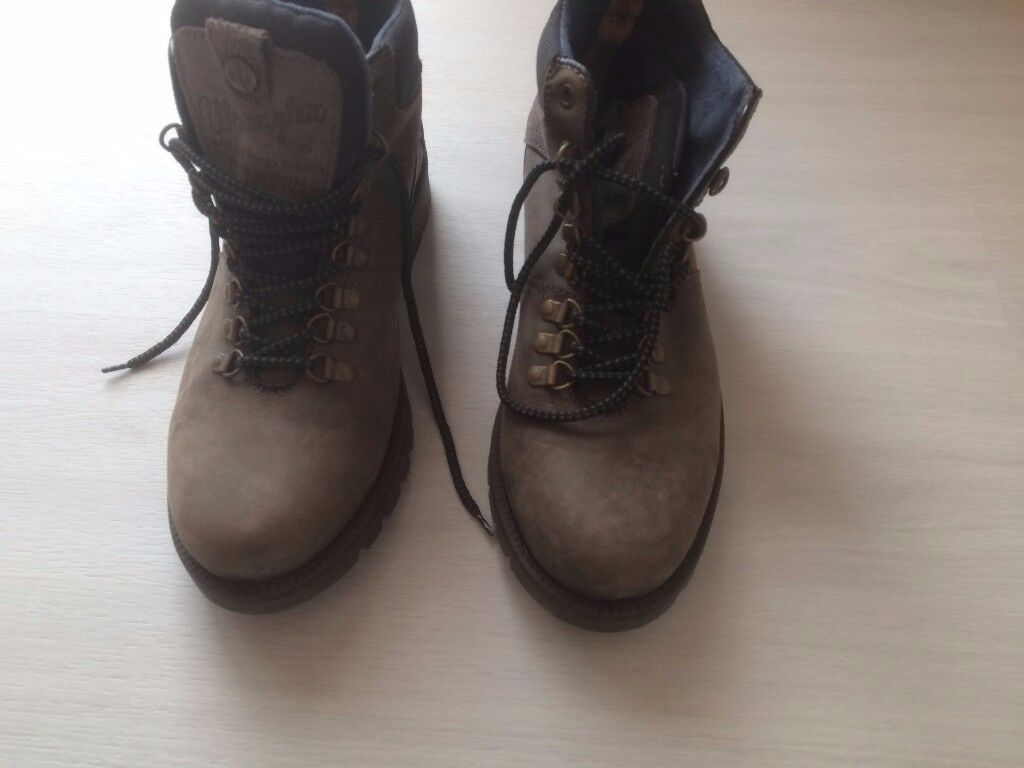 Boots- Grey Leather Wrangler Sie 10 Boots