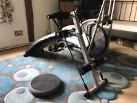Xtrainer and gym bench