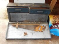 Carpenters 1960's suitcase style tool box.