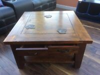 Large coffee table.