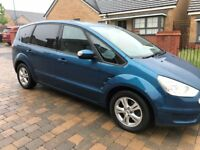 Ford S-Max 7 seats 1.8 TDCi Zetec 5dr 2008(58) blue manual with mot 6 months,