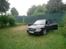 Black 2001 Audi A4 Avant 1.9TDi SE 115ps 5d £699 ono