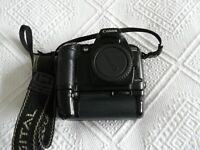 Canon D60 Digital Camera with battery grip + 2 batteries +charger
