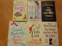 Books - 6 Great novels, including Girl on the Train.