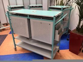 Bristol Maid Medical Record Workstation/Double Notes Trolley/Case Note Trolley