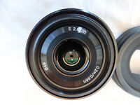 Sony E20mm f/2.8 E 20mm F2.8 lens (E-mount) and original packaging SEL20F28