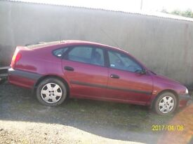 Toyota Avensis 1.8 GS petrol breaking all parts