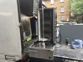 CATERING COMMERCIAL KITCHEN EQUIPMENT DONER KEBAB SHAWARMA GRILL MACHINE FAST FOOD RESTAURANT SHOP
