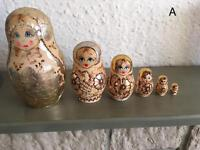Russian nesting dolls matryoshka (A-E) please see details for prices
