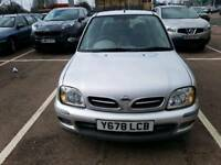 NISSAN MICRA 1.0 SILVER. IMMACULATE PERFECT DRIVE. LOAFS OF SERVICE HISTORY. GREAT 1ST CAR