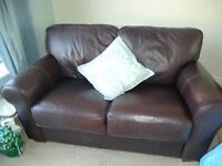 Llandudno - Leather 2 seater settee. Excellent make -Arighi Bianchi. Little used. .
