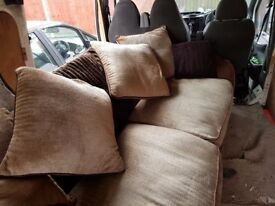 LARGE SUEDE 3 SEATER SOFA