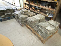 "1000 16""x8"" Welsh green roofing slates."