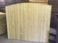 Bow top fence panels pressure treated