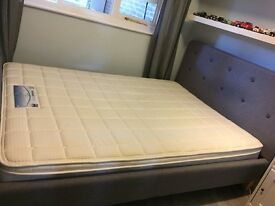 BEAUTIFUL DOUBLE BED WITH MATTRESS