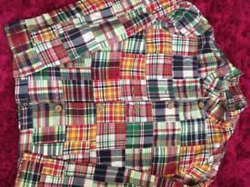 Size 12 multi coloured checked cotton jacket