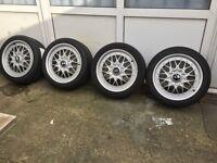 REFURBISHED Genuine BMW BBS RC 041/ RC 042 E36 17'' Alloy Wheels + Tyres Split Rim Staggered BMW E36