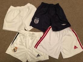 Umbro and Adidas football shorts 4 pairs Age 6-8
