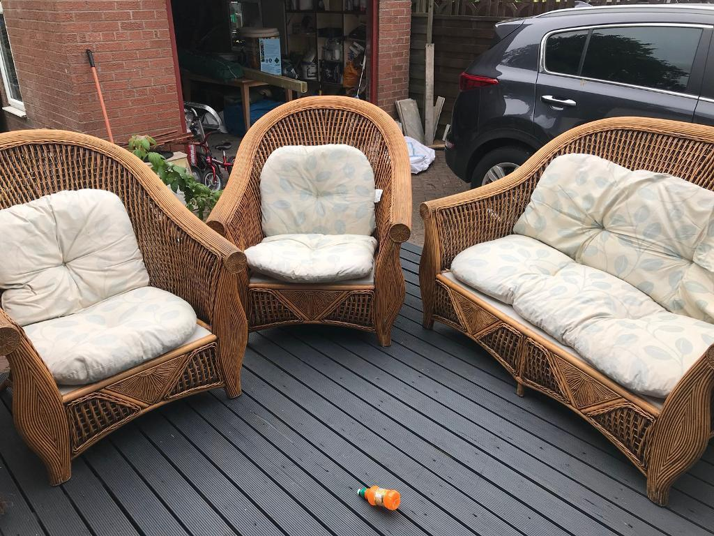 3 piece Wicker conservatory furniture | in Lenzie, Glasgow ...