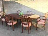 GENUINE REGENCY STYLE DINNING TABLE AND 6 CHAIRS FREE DELIVERY 🇬🇧