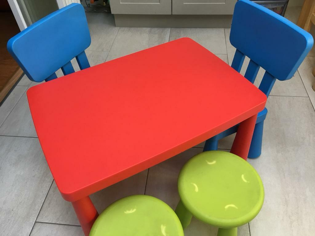 Ikea Mammut Kids Table Chairs Stools