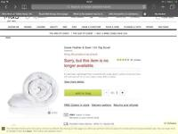 M&s Goose Feather and Down Duvet. Super King Size (New)