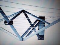 BRABANTIA WALLFIX 24M 4 ARM AIRER & ACCESSORIES