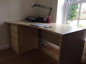 Desk and Drawer Pedestal