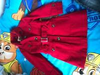 Next age 7-8 red coat !!!